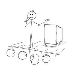 Cartoon of businessman conference speaker or vector