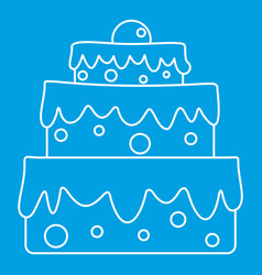 celebratory cake icon outline style vector image
