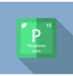 Chemical element Phosphorus Flat vector image
