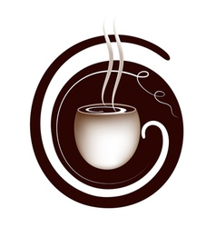 coffee lettering sign vector image