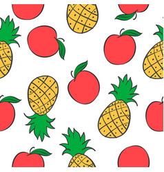 collection of fruit pattern style vector image