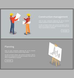 construction management set vector image