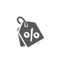 discount icon on white background vector image