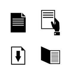 Documents simple related icons vector