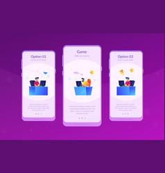 E-sport tournament app interface template vector