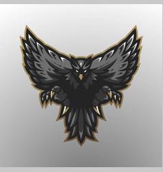 eagle gaming logo vector image