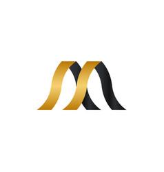 elegant luxury golden ribbon template vector image
