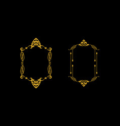 floral frame logo icon vector image