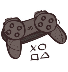 game joystick colored button with a black outline vector image