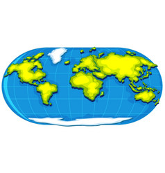 Geography poster with world map vector