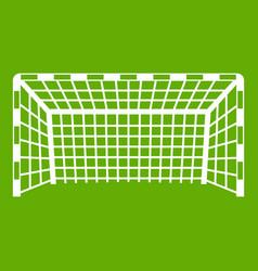 Goal post icon green vector