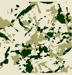 green forest seamless pattern - camouflage vector image