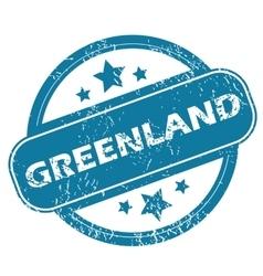 GREENLAND round stamp vector