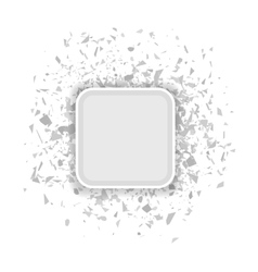 Grey Confetti Banner vector