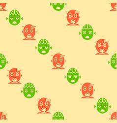 halloween zombie seamless pattern flat design vector image