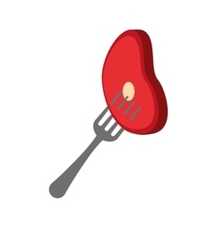 Healthy and organic food fork design vector