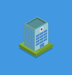 hospital isometric icon in on white background vector image