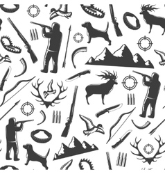 hunting seamless pattern vector image