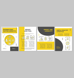 Intermittent fasting pros brochure template vector