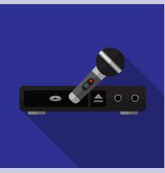 Karaoke system flat icon vector