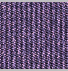 Knit texture melange pink purple color seamless vector