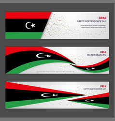 Libya independence day abstract background design vector