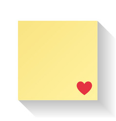 love letter paper with red heart valentines day vector image