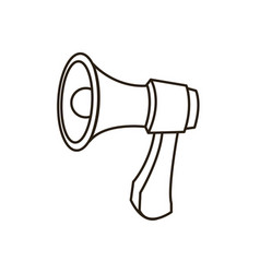 Megaphone loudspeaker marketing advertising vector