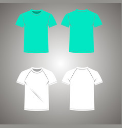 Mens t-shirt set front and vector