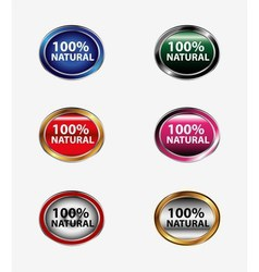 Natural stickers tag vector