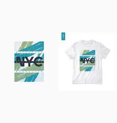 new york city graphic mens t-shirt design vector image