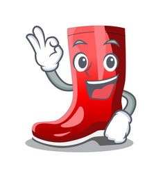 Okay single of boots isolated on mascot vector
