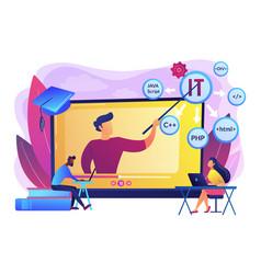 Online it courses concept vector