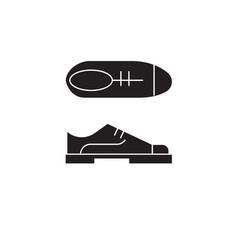 Oxford shoes black concept icon oxford vector