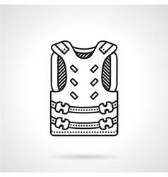 Paintball harness black icon vector