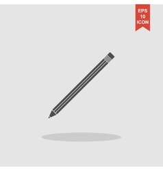 pencil icon Flat design style vector image