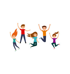People having fun design vector
