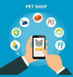 Pet care concept vector