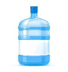 plastic water bottle container with label vector image