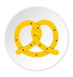 Pretzels icon flat style vector