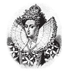 Queen elizabeth vintage vector