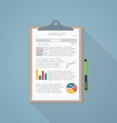 Report paper vector image