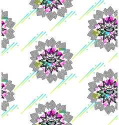 seamless pattern with hypnosis eyes vector image