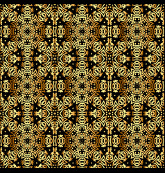 seamless vintage background with gold ornaments vector image