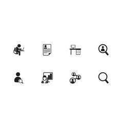 set of 8 editable bureau icons includes symbols vector image