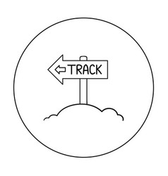 signpost icon in outline style isolated on white vector image