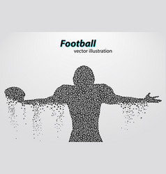 Silhouette of a football player from triangle vector