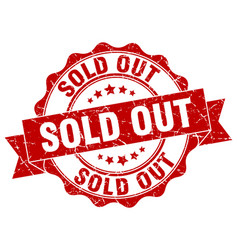 sold out stamp sign seal vector image