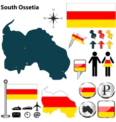 South Ossetia map vector