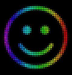 Spectrum dot glad smiley icon vector
